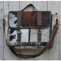 Cowhide And Leather Satchel  (NEW COLLECTION)