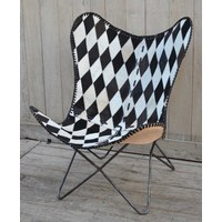 Diamond Check Butterfly Chair  (NEW COLLECTION)