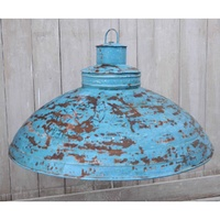 Blue wash iron Industrial Lamp Shade