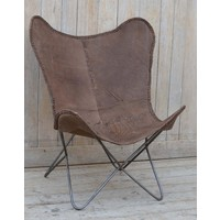 Brown Leather Butterfly Chair  (NEW COLLECTION)