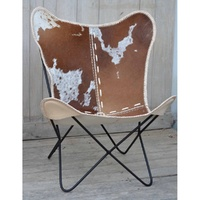 Hand made hand crafted Cow skin BUTTERFLY Chair