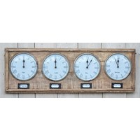 World Clock Timber  (NEW COLLECTION)