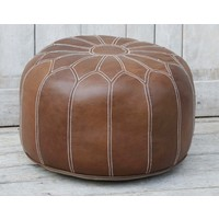 Morrocan Leather Ottoman  (NEW COLLECTION)