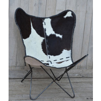 Cowhide Butterfly Chair Black  (NEW COLLECTION)
