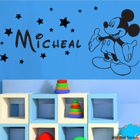 MIckey Mouse Inspired & Personalised Name Removable wall sticker