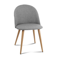 2 X Artiss Dining Chairs Light Grey