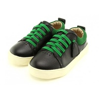 Leather kids sneaker - Hulk Black green