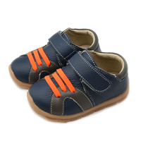 Leather kids sneaker - Navy (Size: 10)