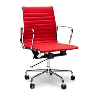 Aluminium Leather Office Chair-Replica Eames