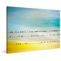 Birds Hangin Canvas Wall Art