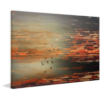 Night Flight Canvas Wall Art