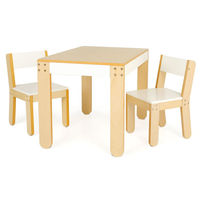 P'kolino Little Ones Modern Kids Tables and chairs (white)