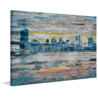 Bridge Skyline Canvas Wall Art