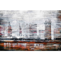 Brooklyn Bridge View Canvas Wall Art