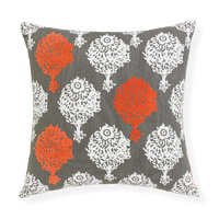 Amelie - 43cm Knife Edged, Printed & Flocked cushion by Rapee
