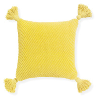 Cradle- 45x45cm textured Chenille cushion with tassels [Colour: Dijon]