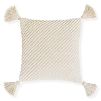 Cradle- 45x45cm textured Chenille cushion with tassels [Colour: Natural]