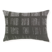 Clyde -40x60cm woven Jacquard cushion by Rapee [Colour: Charcoal]