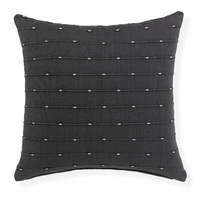 Lexie - 45x45cm knife Edged, Dobby Weave cushion by Rapee [Colour: Graphite]
