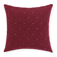Lexie - 45x45cm knife Edged, Dobby Weave cushion by Rapee [Colour: Mulberry]