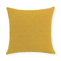 Lexie - 45x45cm knife Edged, Dobby Weave cushion by Rapee [Colour: Mustard]