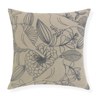 Norfolk- 43x43cm Knife Edged, flocked bird pattern cushion by Rapee