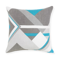 Tile - 50x50cm Knife Edged, Herringbone Weave printed cushion by Rapee (Torquise)