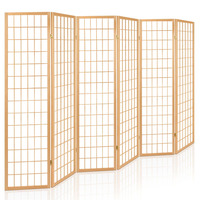 Artiss 6 Panel Room Divider Privacy Screen Foldable Pine Wood Stand Natural