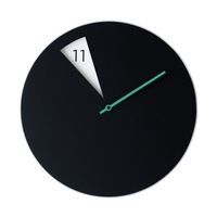 FreakishCLOCK - Black (green minute hand)
