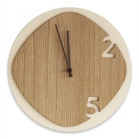 Clock25 Wooden Wall Clock - Light Wood