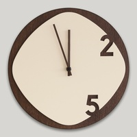 Clock25 - Wooden Wall Clock Dark Wood