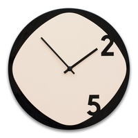 Clock25 - Wooden Wall Clock - Black and Beige