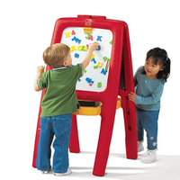 Easel for Two - Red/Yellow