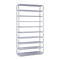10 Tiers Stackable Shoe Storage Rack 159cm