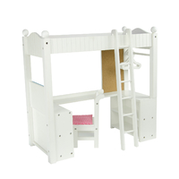 Little Princess 45cm Doll Furniture - College Dorm Double Bunk Desk
