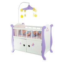 Little Princess 45cm Doll Furniture - Baby Nursery Bed with Cabinet