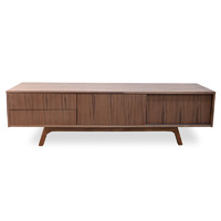 Ella TV Scandinavian Entertainment Unit - Lowline - Walnut Veneer