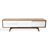 Hendrix 1.8m Scandinavian TV Entertainment Unit - Lowline - Walnut