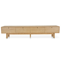 Irene 2.2m Scandinavian Entertainment TV Unit - Full Natural