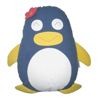 Penguin Cuddling Cushion Grey