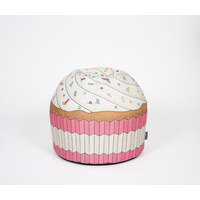 Woouf Bean Bag - Cupcake Pink -  45cm x 43cm , unfilled