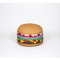 Woouf Bean Bag - Burger - 52cm x 38cm , unfilled