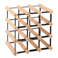 Artiss 12 Bottle Timber Wine Rack