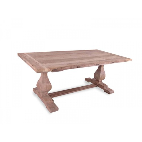 Titan Reclaimed ELM Wood Dining Table 1.98m - Rustic Natural