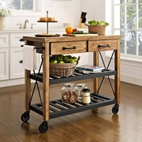 Hardwood Butlers Trolley on wheels