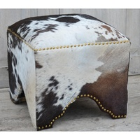 Hand made hand crafted Cow skin (syntetic) Ottoman