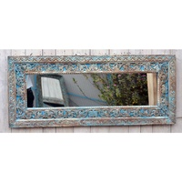 Recycle timber hand crafted Rectangle Mirror - SHANTI