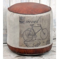 Canvas Round Ottoman - THE TOURE bicycle