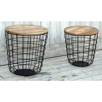 SET/2 Hardwood timber coffee table - THE CANGGU