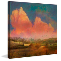 Pastoral Sunset Canvas Art Print